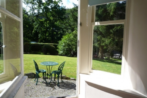Clairgarth, view to garden, Lakes Cottage Holidays