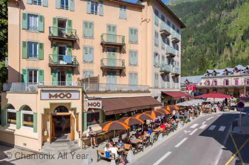 Located in the centre of Chamonix