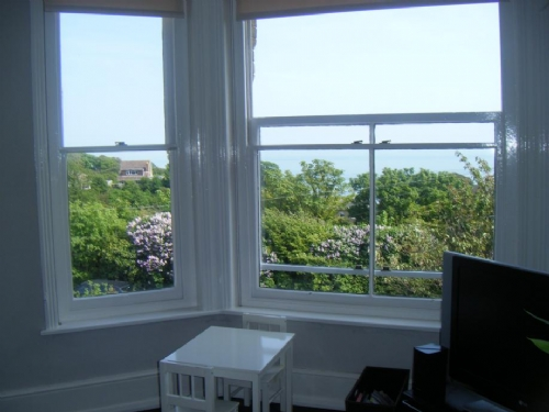 lovely sea views from living room