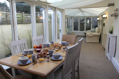 Whitecroft, Cartmel, conservatory, Lakes Cottage Holidays