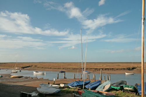Holiday cottage with views over the Staithe at Burnham Overy, Norfolk