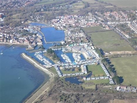 Emsworth harbour from the air