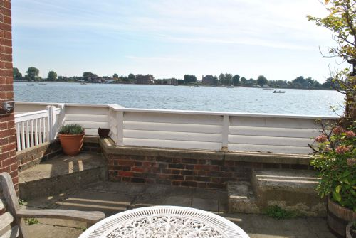 Patio overlooking Bosham water