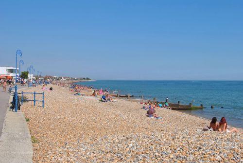 The beach at nearby Felpham