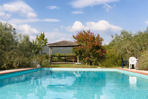 Pool and one of three pergolas to enjoy