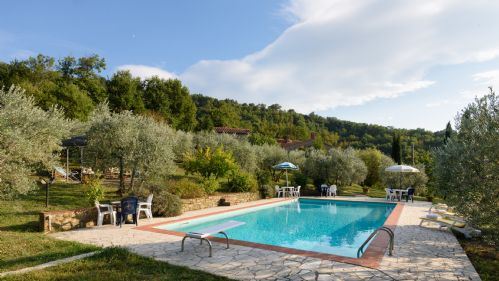 Pool and surrounding countryside