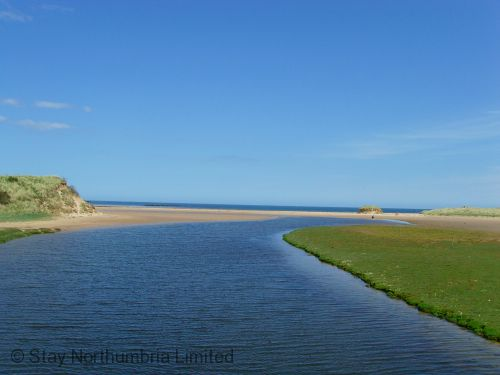 The Long Nanny burn meets the sea @ Beadnell