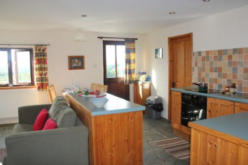 The Stables, open plan kitchen, Lakes Cottage Holidays