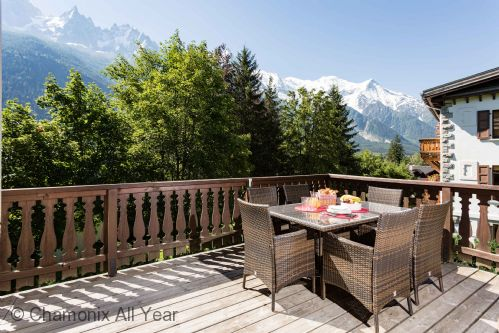 Al fresco eating with Mont Blanc views