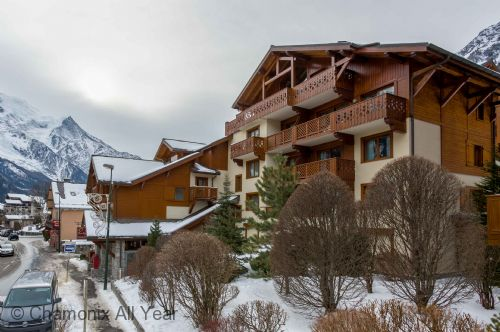 Located in Chamonix centre, near Savoy / Brevent ski slopes