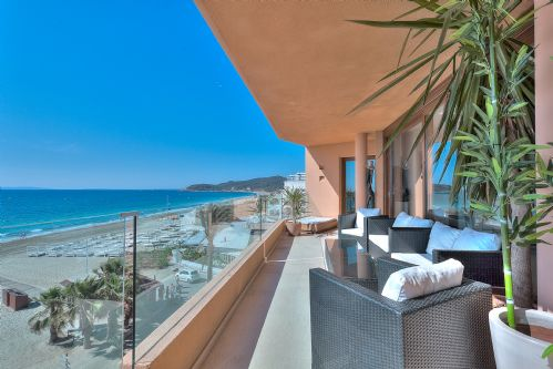 Upfront,up,front,reviews,accommodation,self,catering,rental,holiday,homes,cottages,feedback,information,genuine,trust,worthy,trustworthy,supercontrol,system,guests,customers,verified,exclusive,gemini penthouse,bossa shoreline apartments,ibiza town,,image,of,photo,picture,view