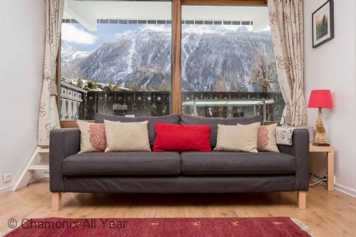 Mountain views from the lounge area