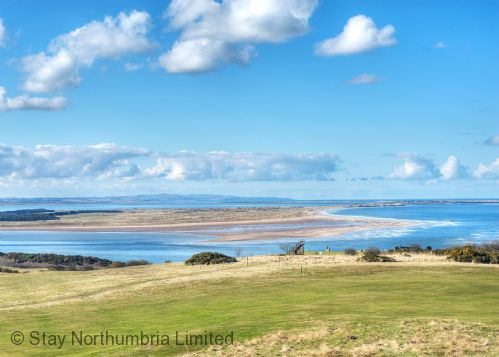 View towards Lindisfarne from mainland