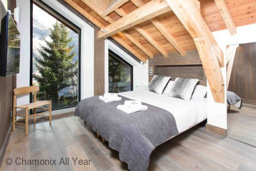 Beautiful modern chalet bedroom