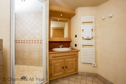 En-suite master bathroom with shower