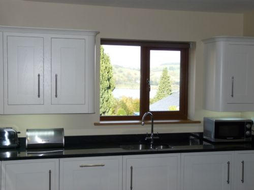 Cherry Cabin, View from Kitchen Window, Lakes Cottage Holidays