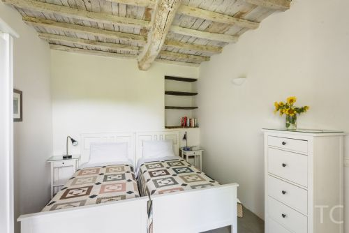 Twin bedded room, with