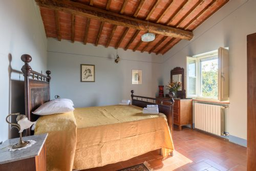 Large bright bedroom, lots of original features and a lovely view.