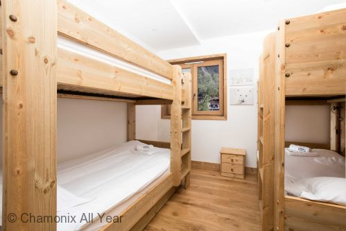 Quad bunk room can sleep up to 4 adults