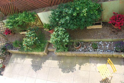 Patio garden ( taken from First floor balcony)