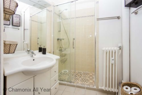 Good sized bathroom with walk-in shower