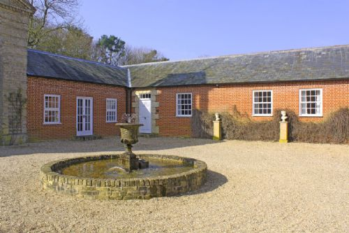 The courtyard at Haveringland Hall Norfolk an ideal place for a large group