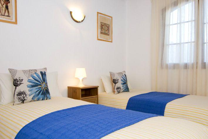 Casa Morgana's twin bedroom in Playa Blanca, Lanzarote