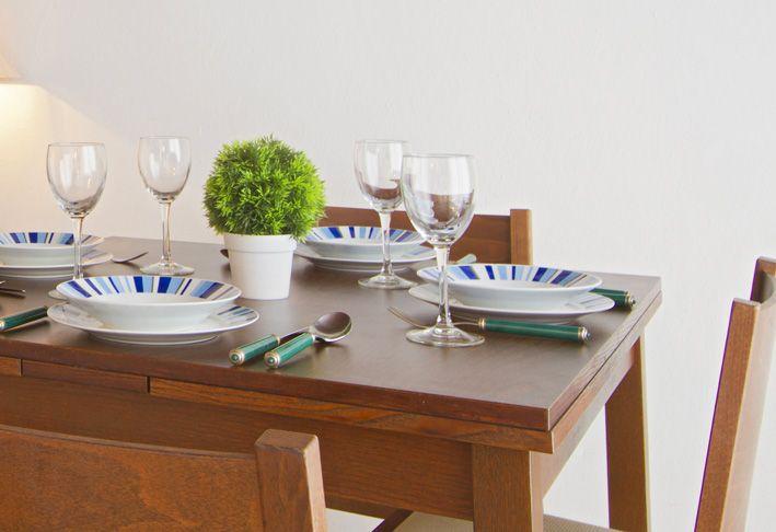 Dining table in a villa in Lanzarote