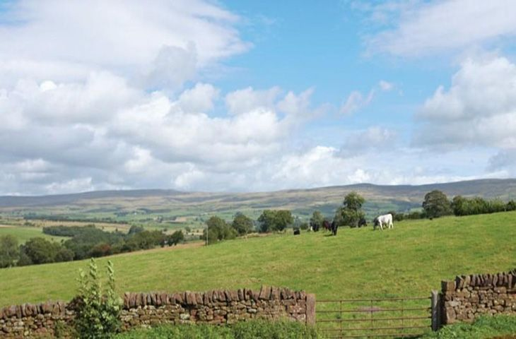 The view over the Eden valley from Glassonby Hall