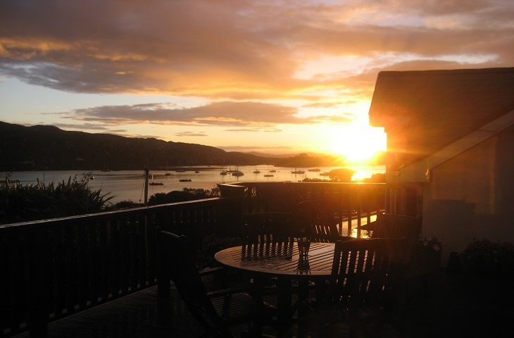 Sunset from the decked area