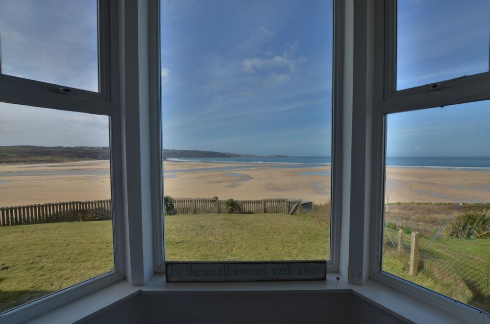 View from bay window in double bedroom