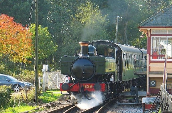 Steam trains at Wittersham Road Station with trips to Bodiam Castle