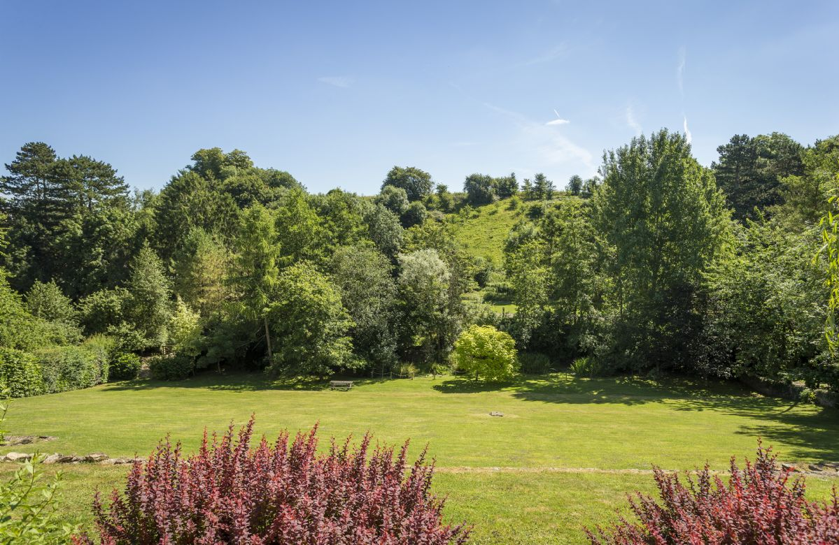 Stunning views surround the garden