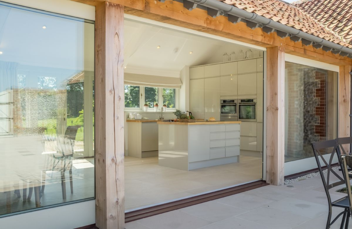 The one level living space is light and airy with full length windows and french doors in all rooms, opening onto a large central courtyard
