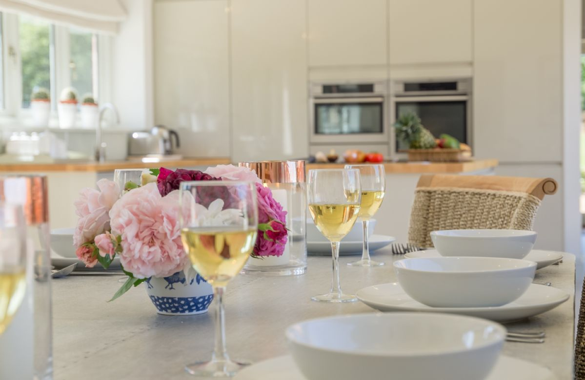 The spacious kitchen/dining room is perfect for relaxed entertaining