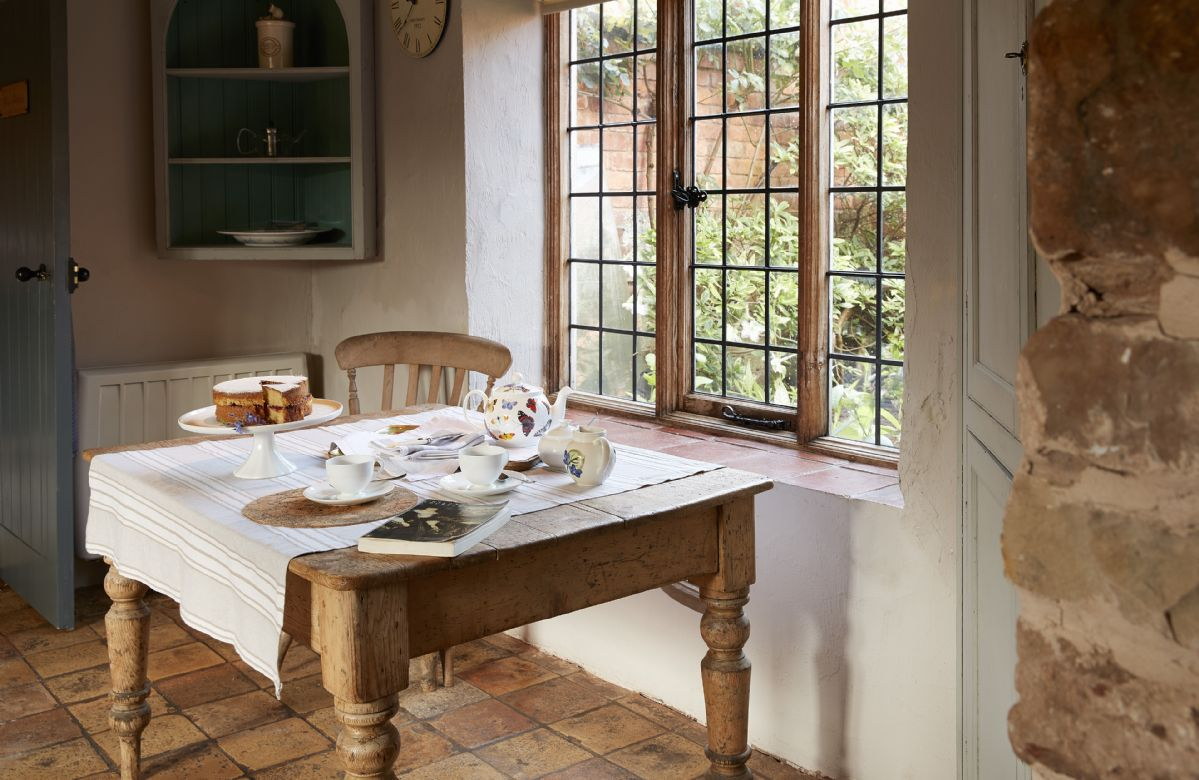 Ground floor: The breakfast table in the kitchen has views to the garden
