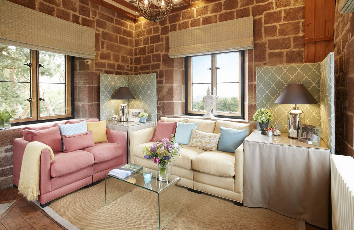Second floor:  Sitting room with extensive views over the parkland
