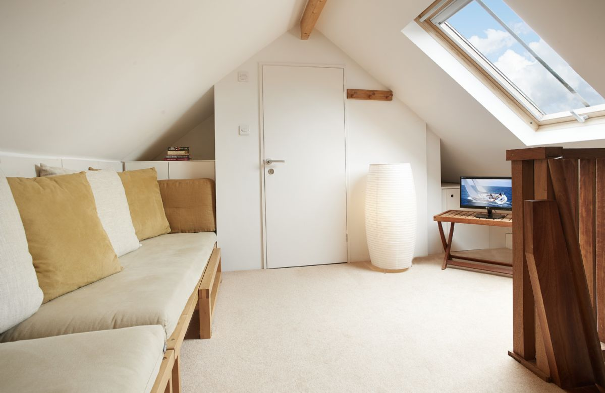 First floor: Loft with accommodation for 2 additional older children/teenagers leading to galleried bedroom