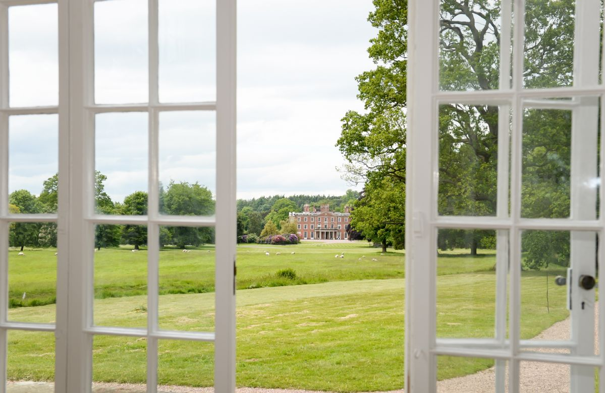 A view across to Weston Park from the Orangery