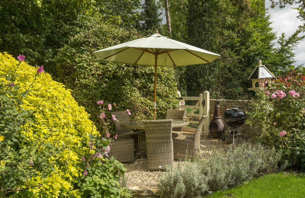 In the summer months the garden is perfect for barbecues
