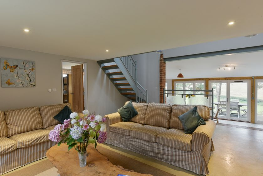 The Dairy: Split level ground floor with open plan Sitting area