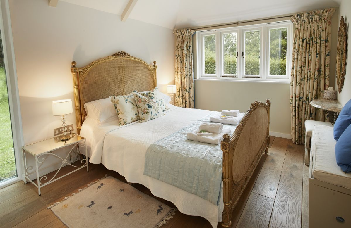 Ground floor:  Double bedroom with 5' king-size bed