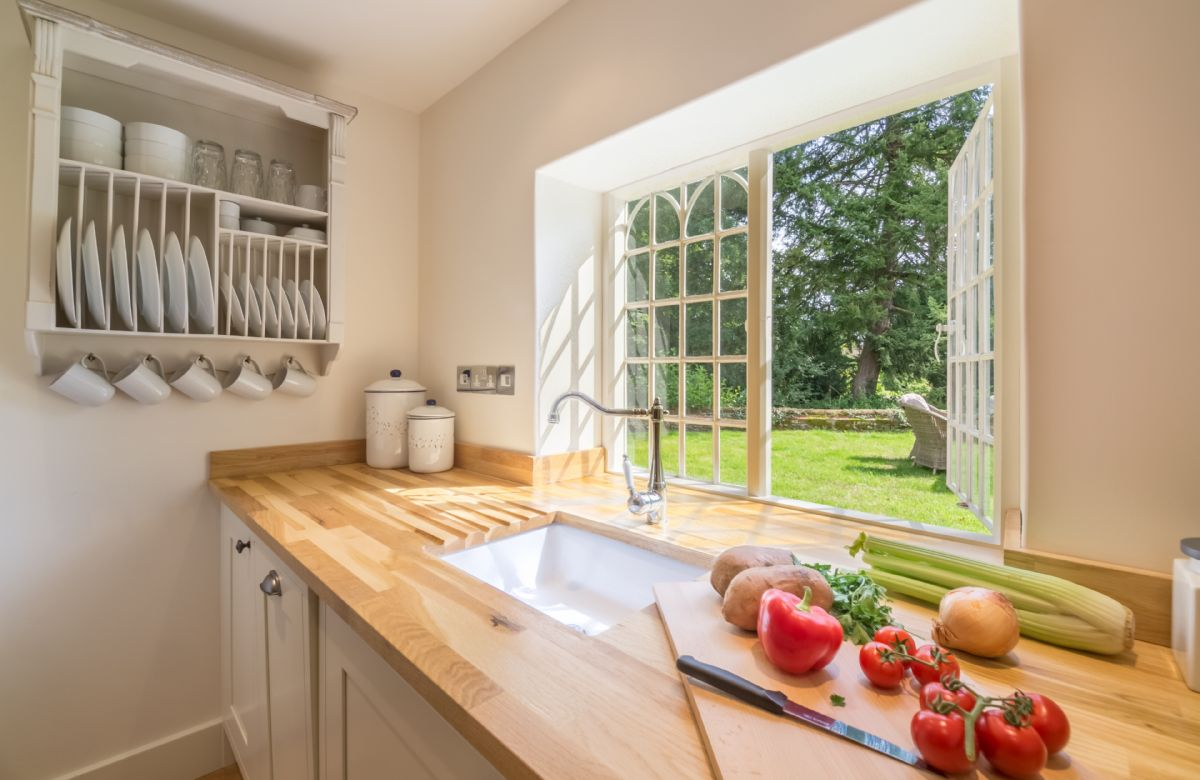 Ground floor: Enjoy cooking with views of the extensive garden