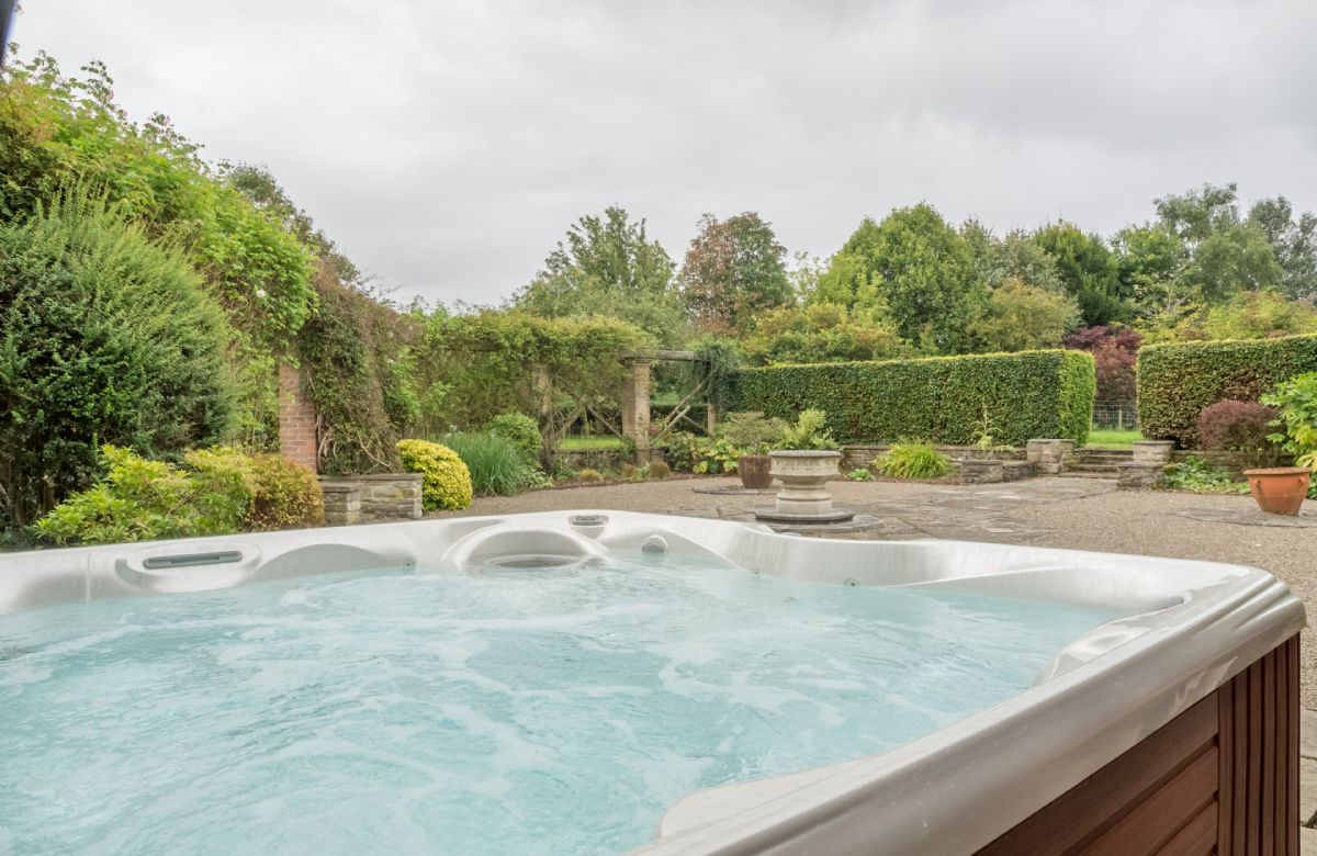 A luxury outdoor hot tub for 6 people