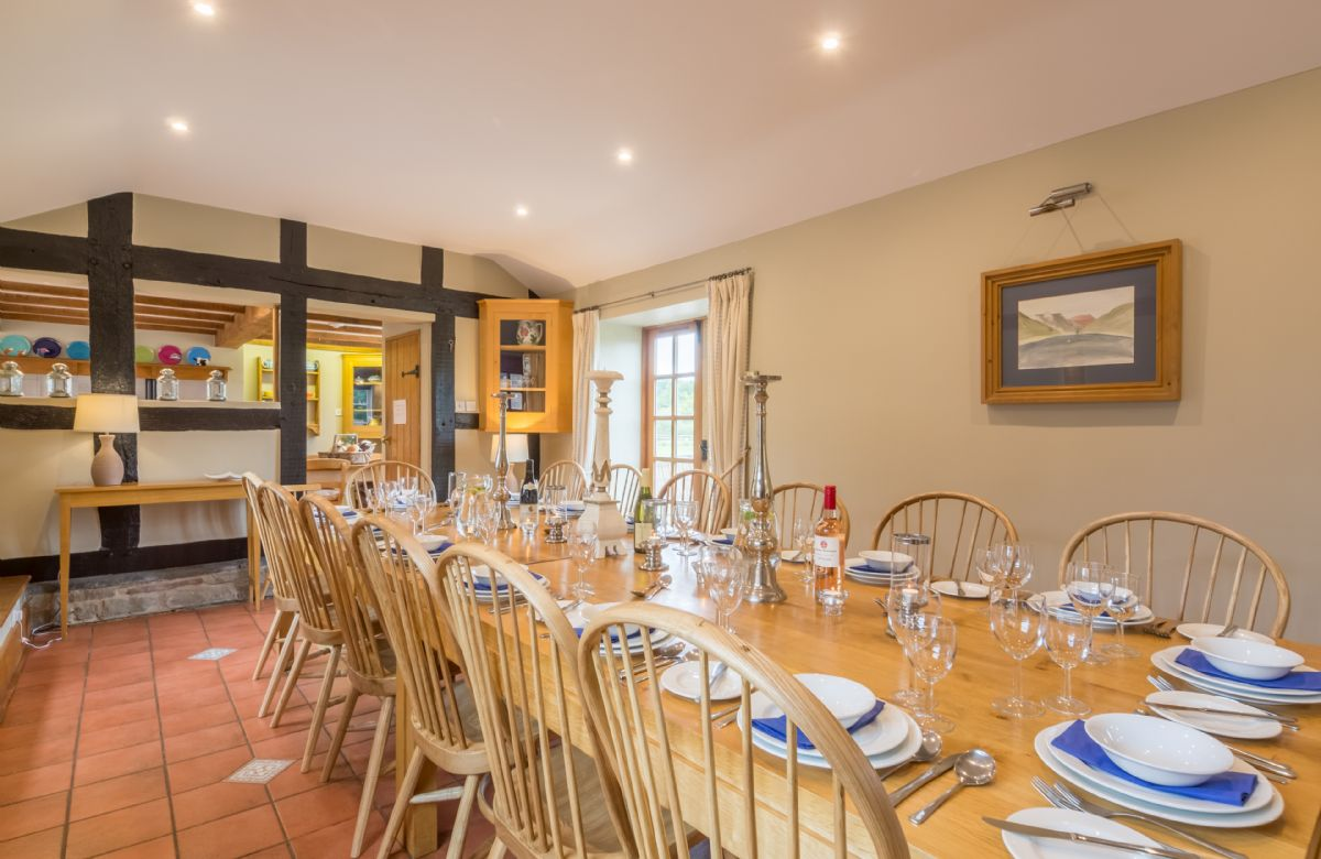 Ground floor:  Dining room in the House