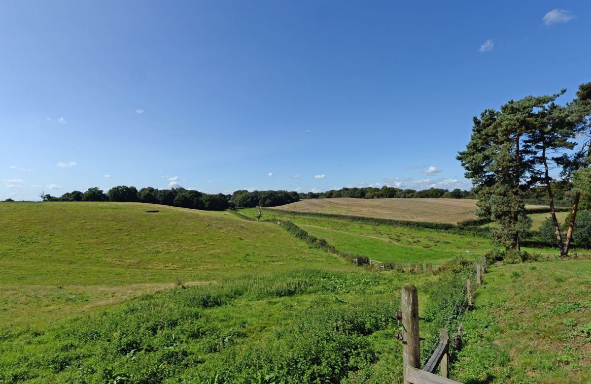 Open countryside surrounds Lodge Farm