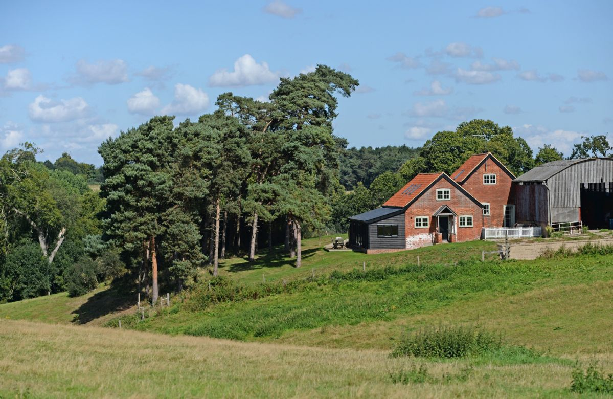 Lodge Farm is located on the grounds of a working farm
