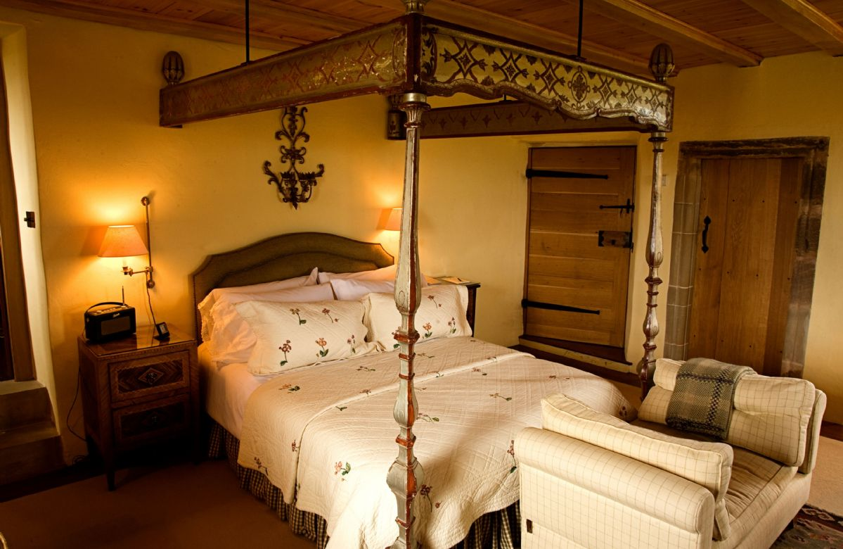 Second floor: The Carmichael Suite features an Italian silver-gilt double bed frame, soft and incredibly comfortable