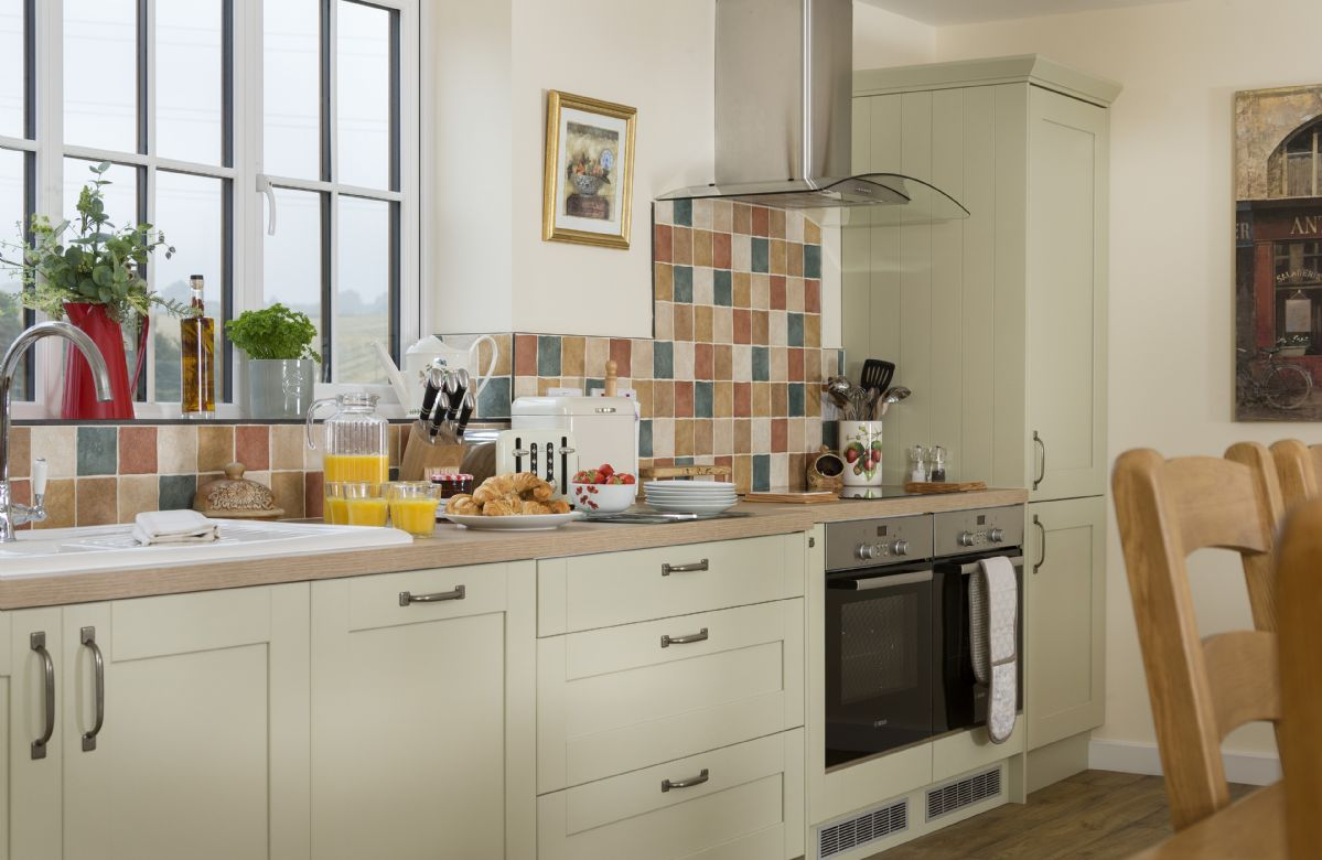 First floor: Fully fitted kitchen with views to open countryside