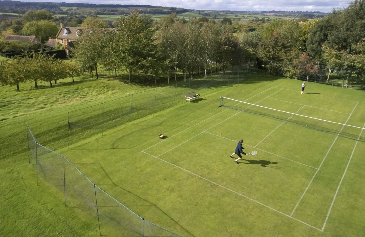 Grass tennis court (available for use May to September only)